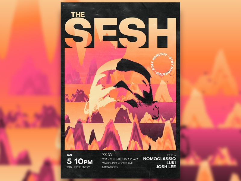The Sesh - D&AD logo festival minimalist philippines manila vector techno house acid illustration typography branding design graphic club art direction music poster graphic design