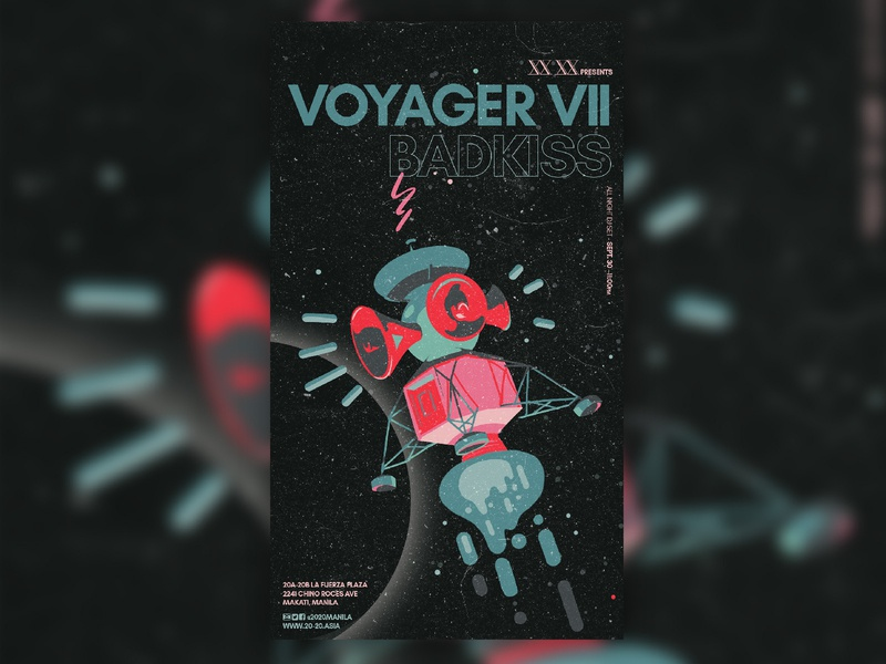 Voyager VII - Badkiss spaceship space philippines manila nightlife illustration music art direction poster graphic design