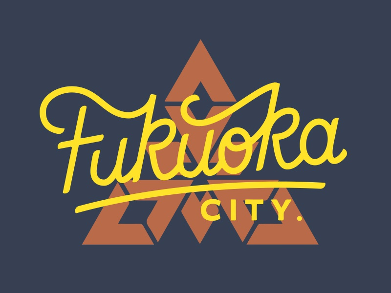 Fukuoka2 letters typography handlettering lettering type japan fukuoka