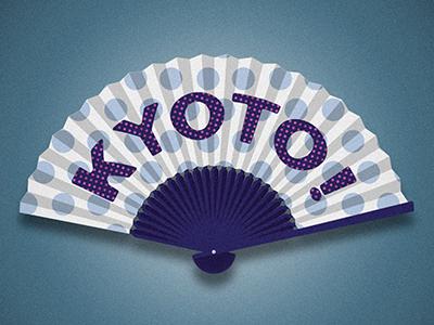 Kyoto5 dots fan japan typography type letters lettering kyoto