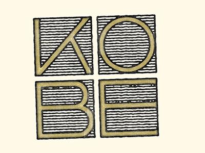 Kobe typography type japan lettering stamp kobe