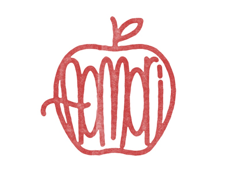Aomori red apple stamp type aomori japan