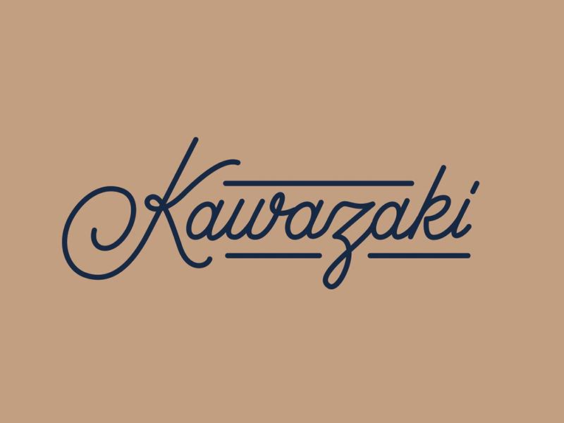Kawazaki typography type lettering script japan kawasaki
