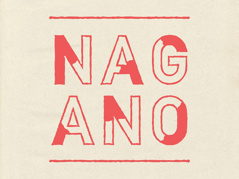 Nagano3 typography type lettering japan nagano