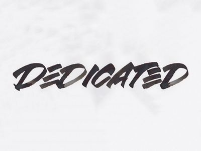 Dedicated rulingpen typography type handlettering ink lettering calligraphy