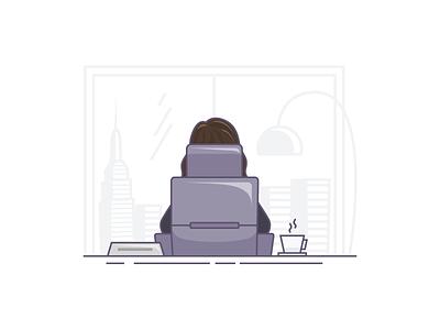 Executive executive-chair chair office woman-power woman-executive directors vector-illustration vector insurance ivona-petrovic