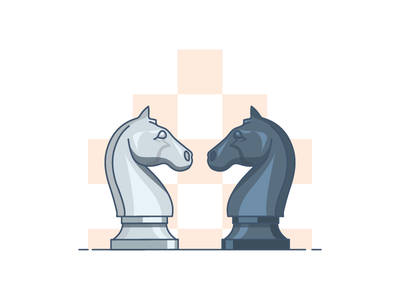 Light or darkness? chess-illustration vector-illustration dark light horse chess-piece illustration vector chess