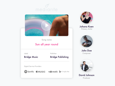 Landing page - features