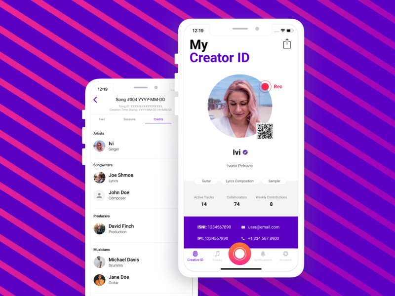 Music app UI ios app ios mobile application mobile app design ivona-petrovic recording ui design id ux uiux uidesign ui  ux ui app design application app music musicapp