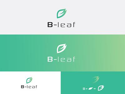 B-leaf logo graphic design brand identy logo design logo
