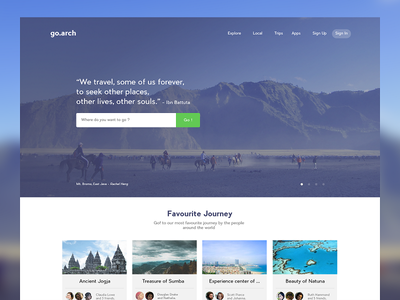 Landing page concept for Travel startup journey page landing website android ios material app startup travel