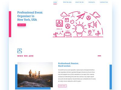 Landing page concept illustration desktop website event landing page