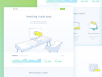 Gold Investment Landing page