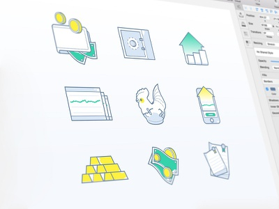 Gold Investment Icon illustration business illustration. investment icon