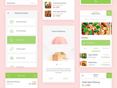 Simple Food app exploration illustration onboarding ux ui app restaurant food