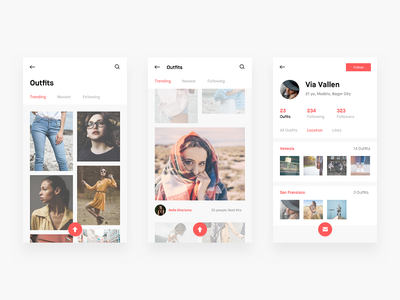 Fashion app android ios ux ui app outfit fashion
