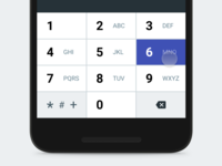 Material Keyboard - Numeric
