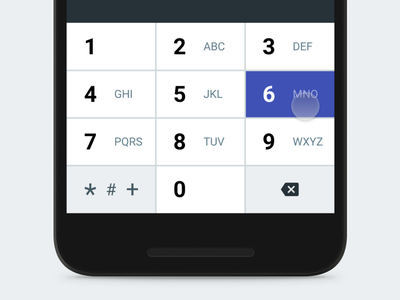 Material Keyboard - Numeric concept material design screen color symbol letter number key keyboard