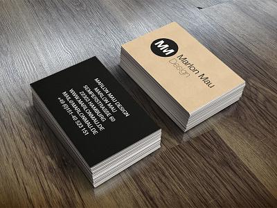 Marlon Mau Design | Business Card business card freelancer mockup card business