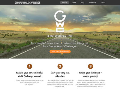 GWC Homepage Design travel colors natural ui homepage challenge world global
