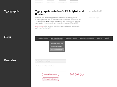 Convent Style Tile #1 [Premium] user interface ui german process tiles forms menu typography color premium style tile convent
