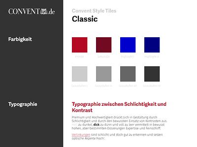 Convent Style Tile #2 [Classic] user interface ui german convent style tile classic color typography menu forms tiles process