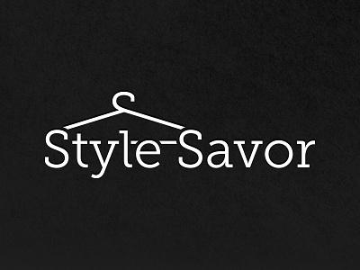 Style Savor Logo branding brand label coat-hanger mockup fashion savor style design logo