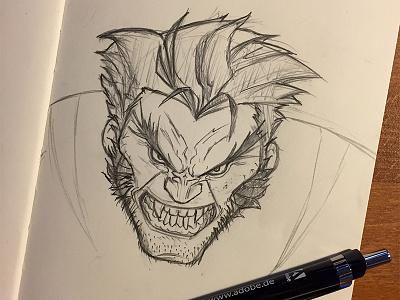 Wolverine Scribble mechanical pencil x-men logan marvel drawing pencil scribble wolverine