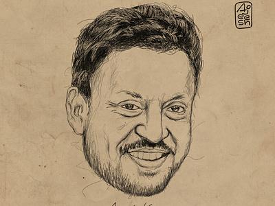 Irfan Khan drawing graphic design illustration design
