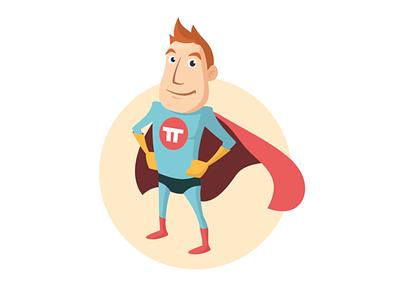 Superhero mascot superhero cartoon cape mascot friendly ginger gloves retro