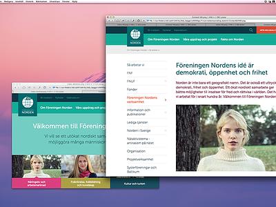 Website WIP web blog index menu navigation layout responsive