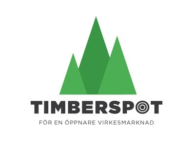 Timberspot logo spot green triangles trees