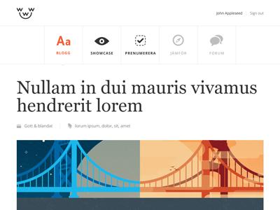 Blog layout v.2 blog menu icons header layout glyphs web design