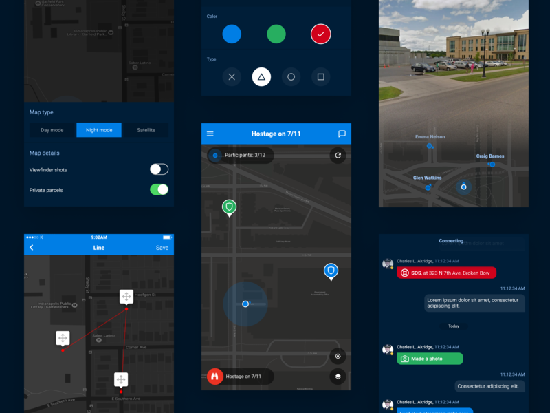 Mission – Mobile application colaboration team project map builder tracking map tracker navigation mobile augmented reality app ux ui