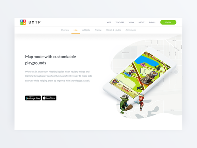 BMTP – Landing page for educational software product promo site promo page promo landing page design landing page web map augmented reality ux ui