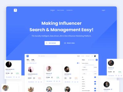 Influencer marketing platform – Landing page v2