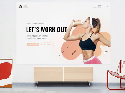 Fitshaker for smart TV uidesign tvui ui uxdesign smart tv fitness app fitness livingroom smarthome tv interface smarttv tv app interaction interface design