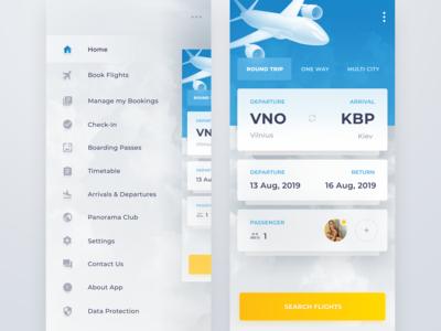 Flight Book UI design