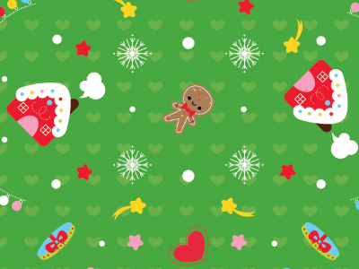 Pattern Origami Paper Set For Christmas  christmas patterns origami paper illustration kawaii cute