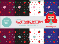 "Illustrated Paper Pattern ""Strawberry Planner"""