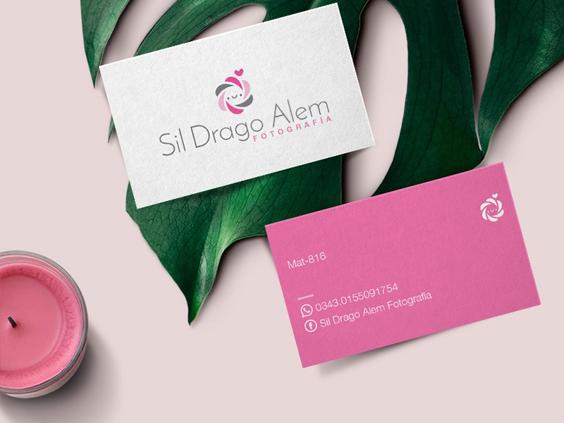 "Business Card Graphic Design for ""Sil Drago Alem""  graphic designer cards cute photograpy photographer logotype logo identity graphic design business card"
