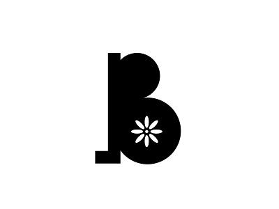 Bonjour Cafe Logo character b flower coffee shop café wordmark typeface typography monogram lettermark logotype logo design branding brand arab