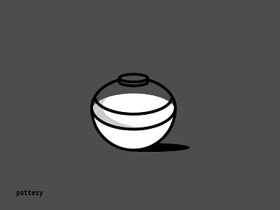 Pottery and Milk grey black white japanese asian chinese minimal shadow milk pottery vector illustration logo design branding brand arab