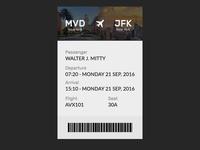 DailyUI #024 · Boarding Pass
