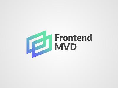 Frontend Meetup MVD · Logo iso logo concept branding meetup gradient logo