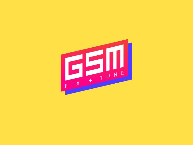 GSM Logo tilted logo concept logo logo design
