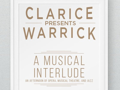 Musical Interlude Poster poster