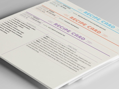 Recipe Cards print recipe recipe card
