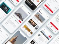 Museum Guide - Müzeler art guide museum protopie mobile clean interface ui
