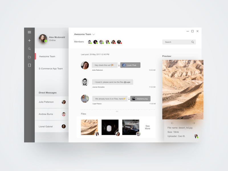 Fluent Design microsoft collaboration team slack windows 10 windows interface ui app desktop fluent fluent design